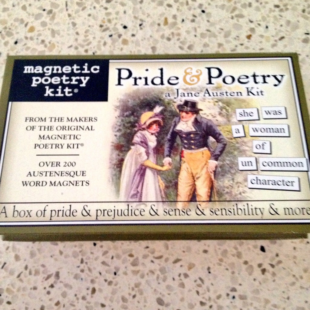 the bennet sisters a pride and prejudice tribute fridge magnet poetry is all kinds of awesome and when you combine it a good topic such as jane austen then you re set for fun times